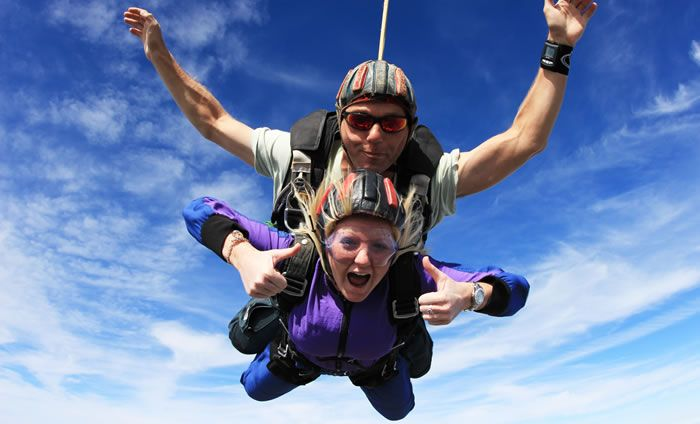 Tandem skydive for St Joseph's HospiceSkydiving
