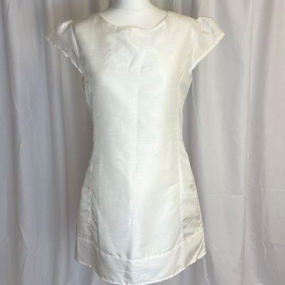 Ax Paris White Shiny Dress Front