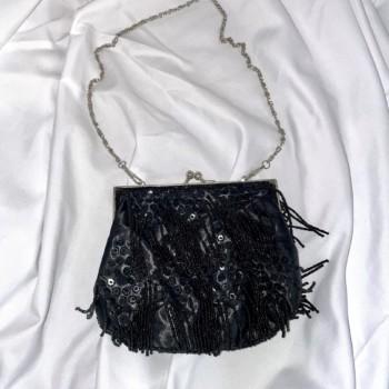 Small Bag Black Beads