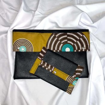 Circle Design Leather Pouch And Purse