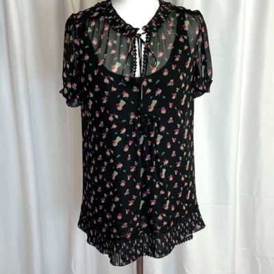 Ghost Black Flower Top Front